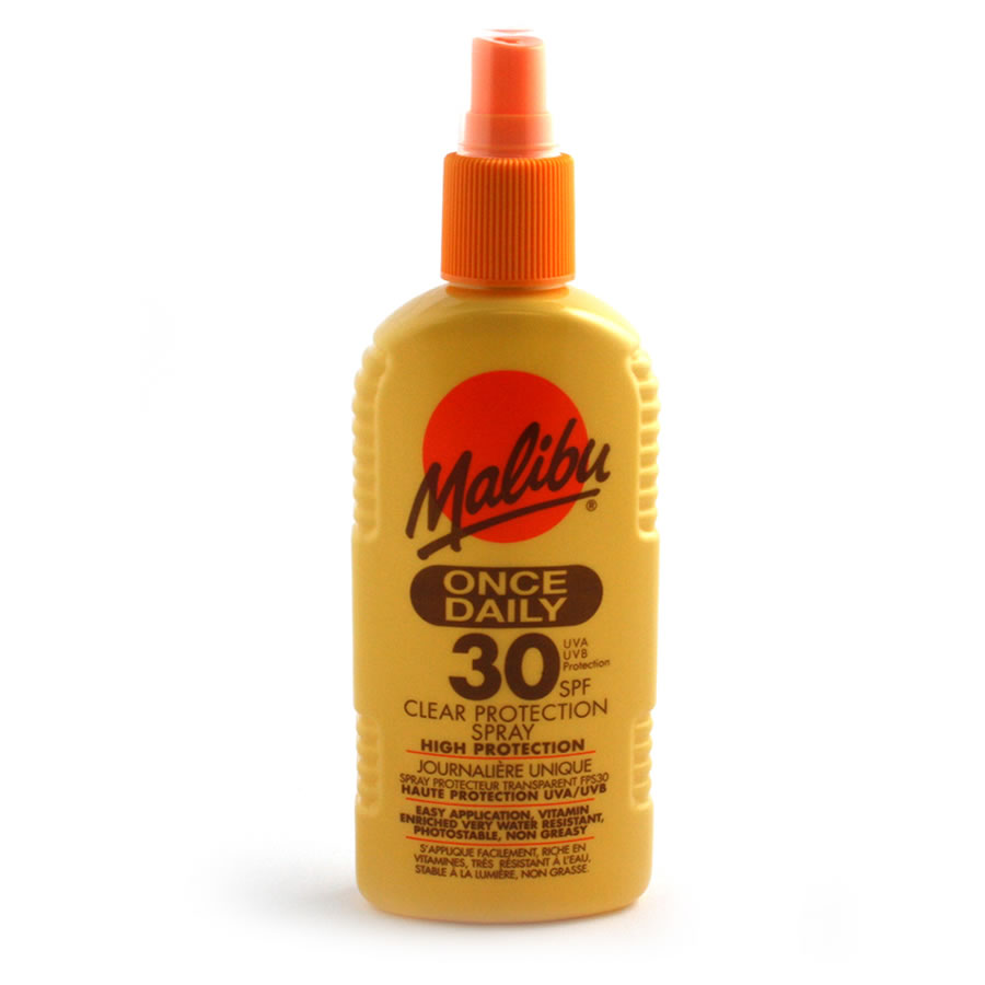 Malibu Once Daily 30SPF Clear Protection Spray