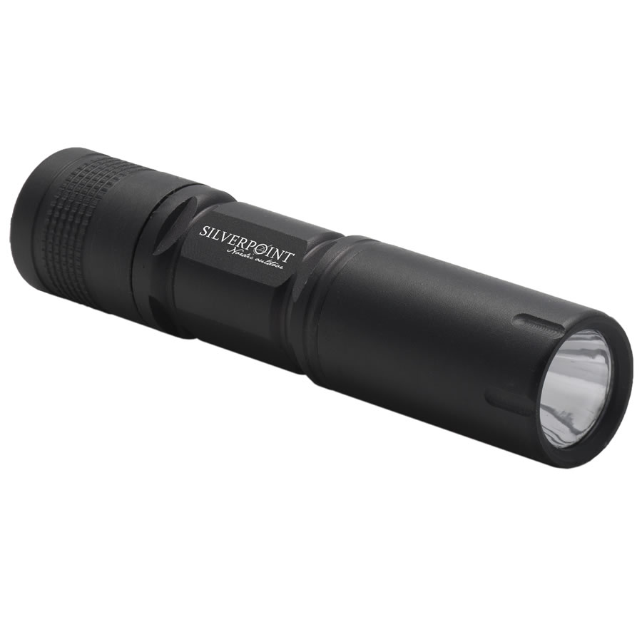 Silverpoint Black Firefly LED Torch