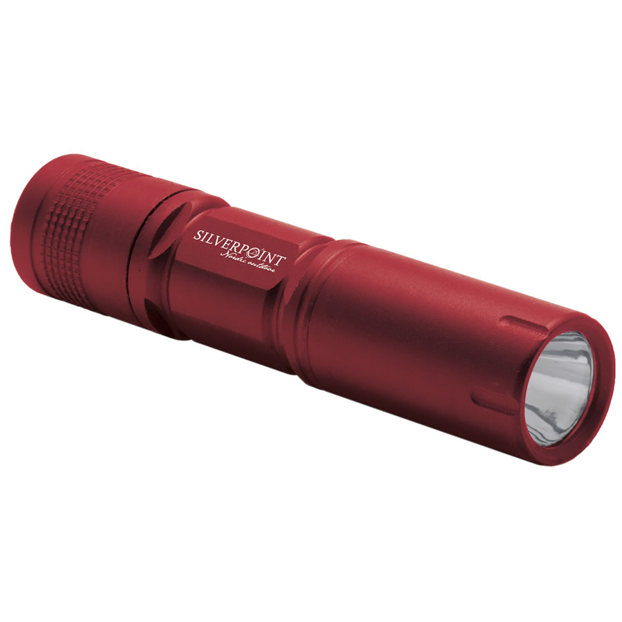 Silverpoint Red Firefly LED Torch