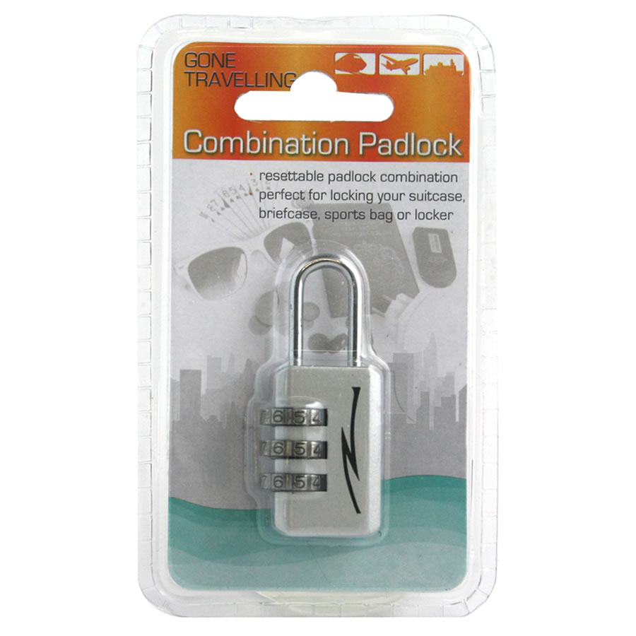 Gone Travelling Combination Padlock