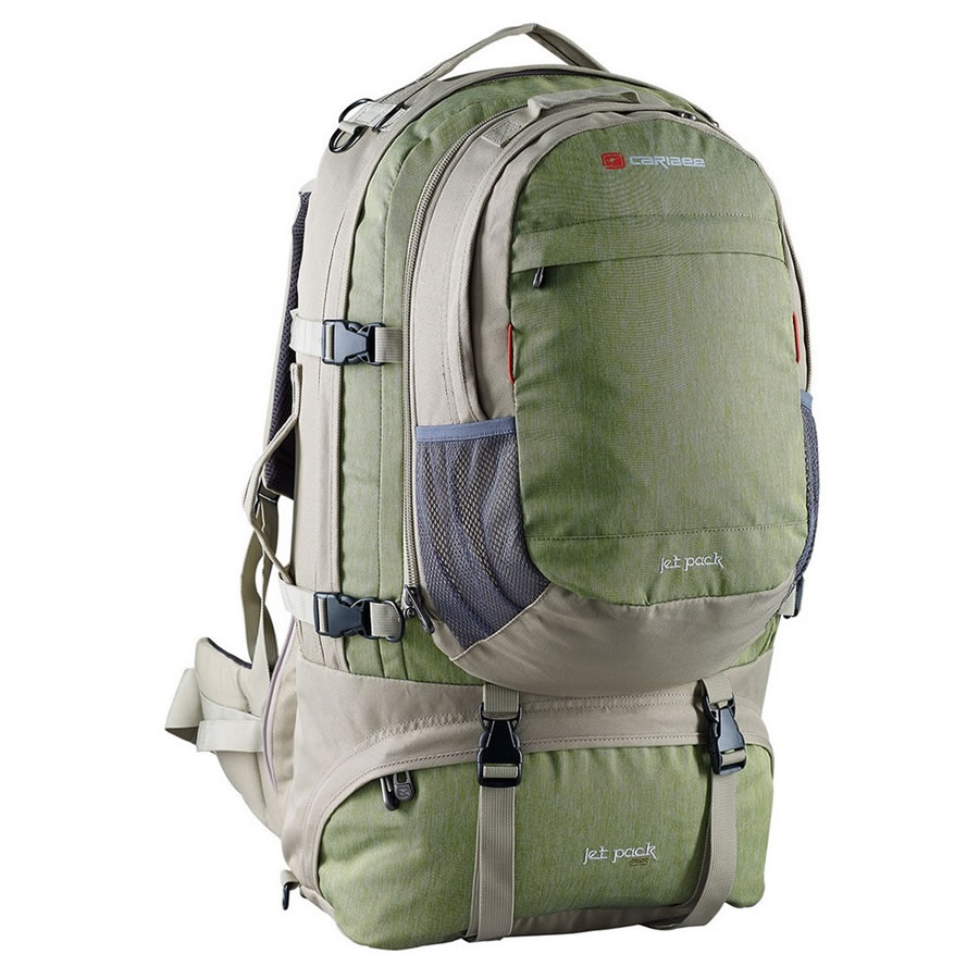 Caribee Mantis Green Jet Pack 75 Travel Rucksack