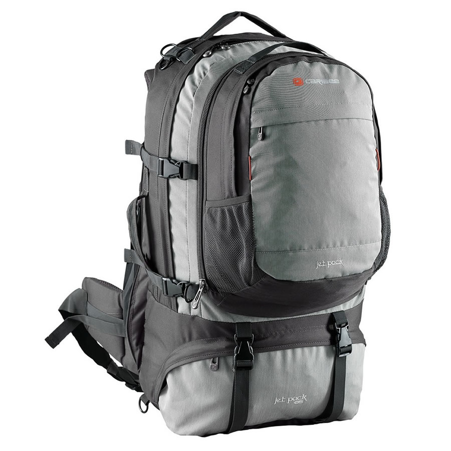 Caribee Storm Grey Jet Pack 75 Travel Rucksack