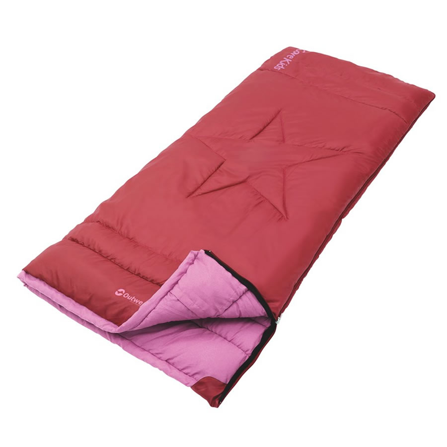 Outwell Cave Kids Red Sleeping Bag