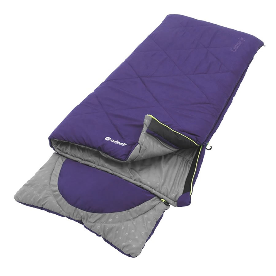 Outwell Contour Junior Sleeping Bag - Purple