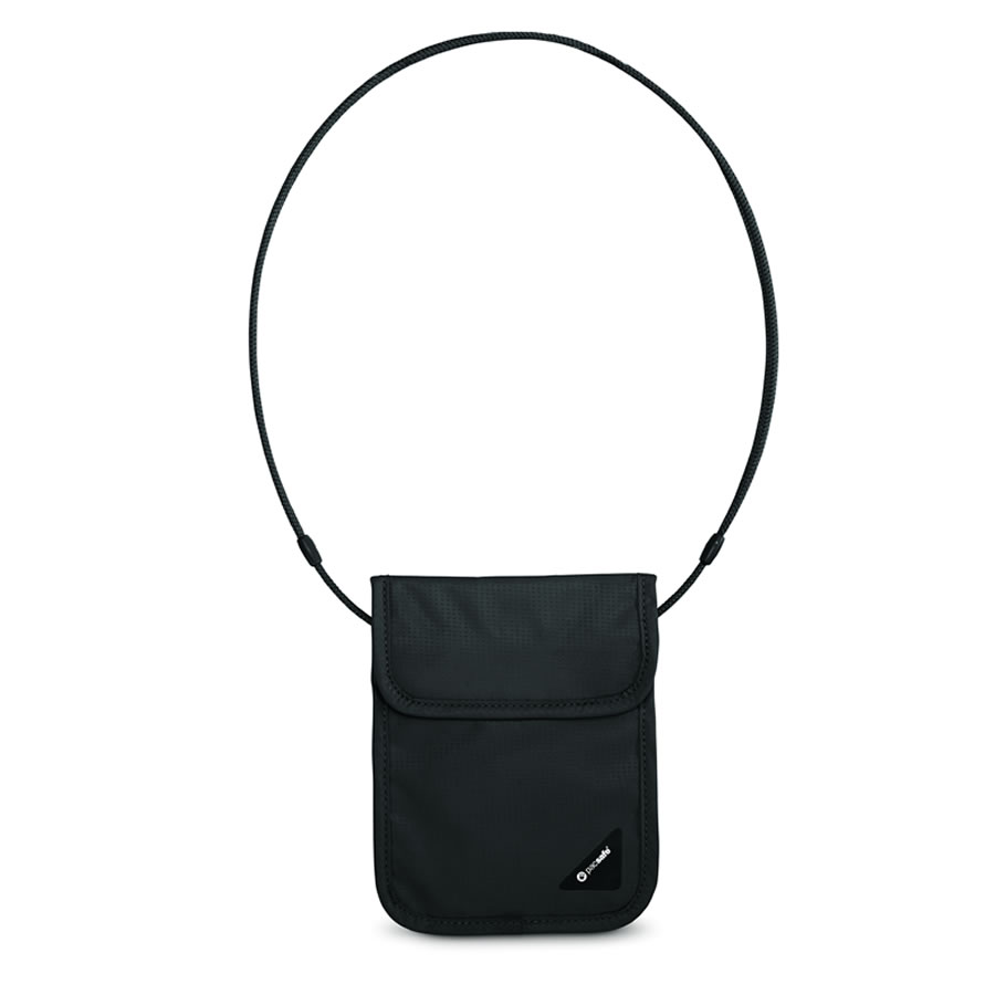 Pacsafe Coversafe X75 RFID-blocking Neck Pouch - Black