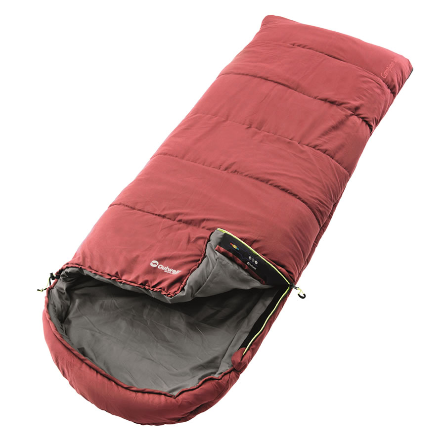 Outwell Campion Lux Sleeping Bag - Red