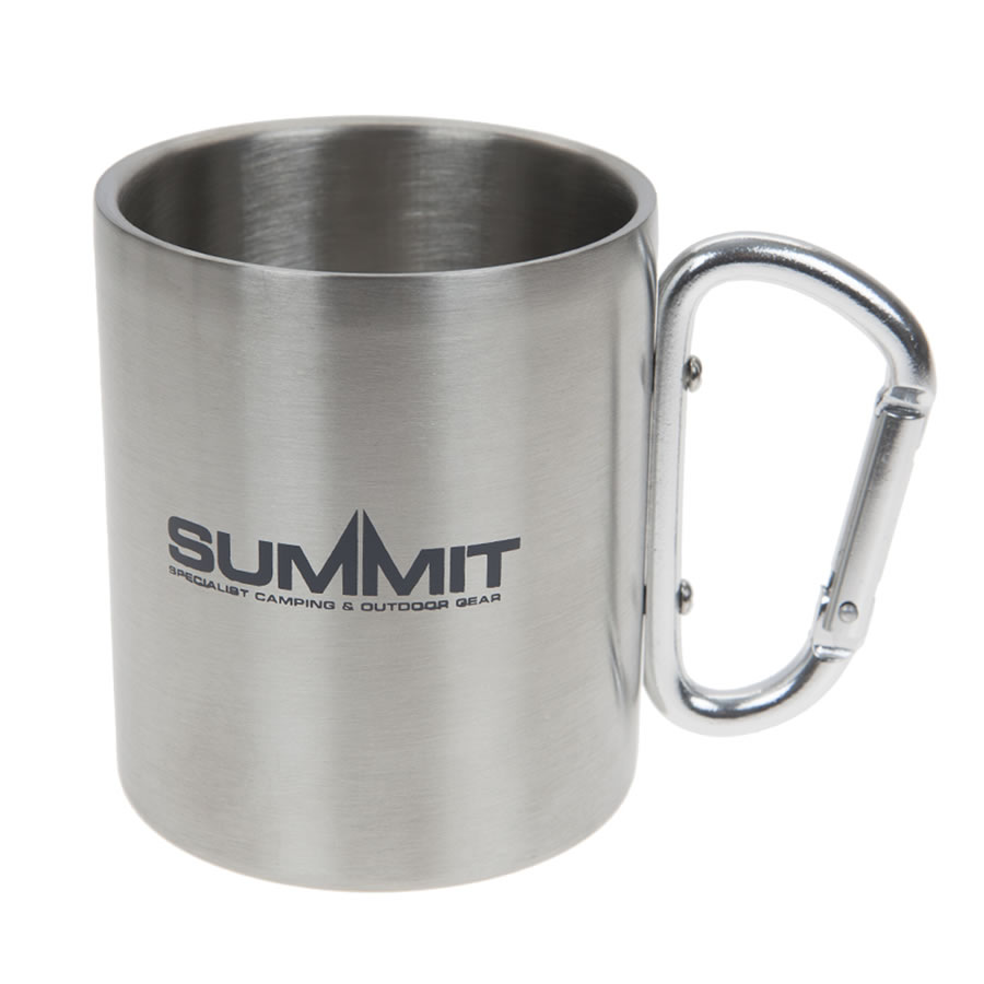 Summit Stainless Steel Carabiner Mug