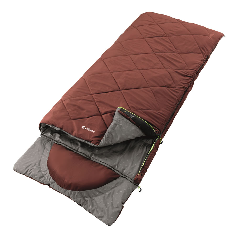 Outwell Contour Sleeping Bag - Red