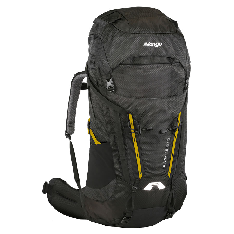 Vango Pinnacle 60+10 Rucksack - Shadow Black