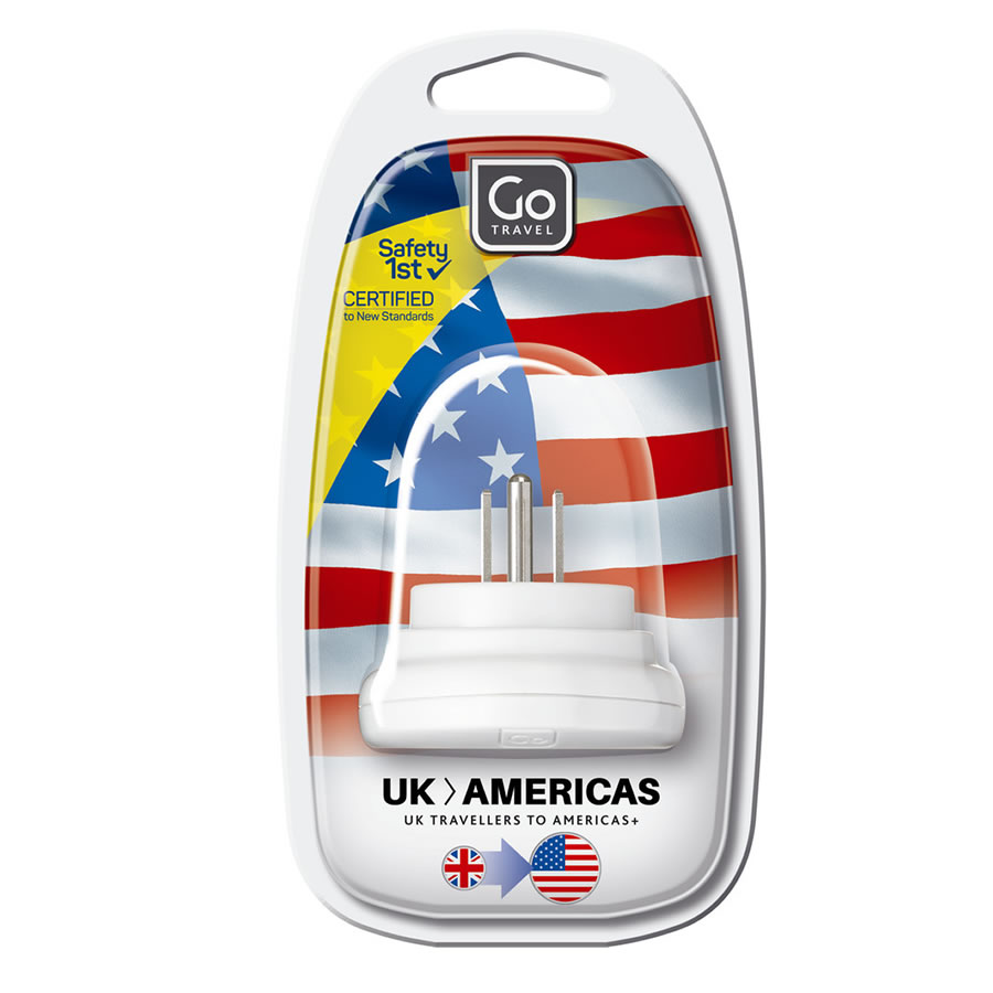 Go Travel UK-USA Plug Adaptor