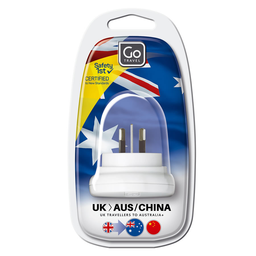 Go Travel UK-Australia Plug Adaptor