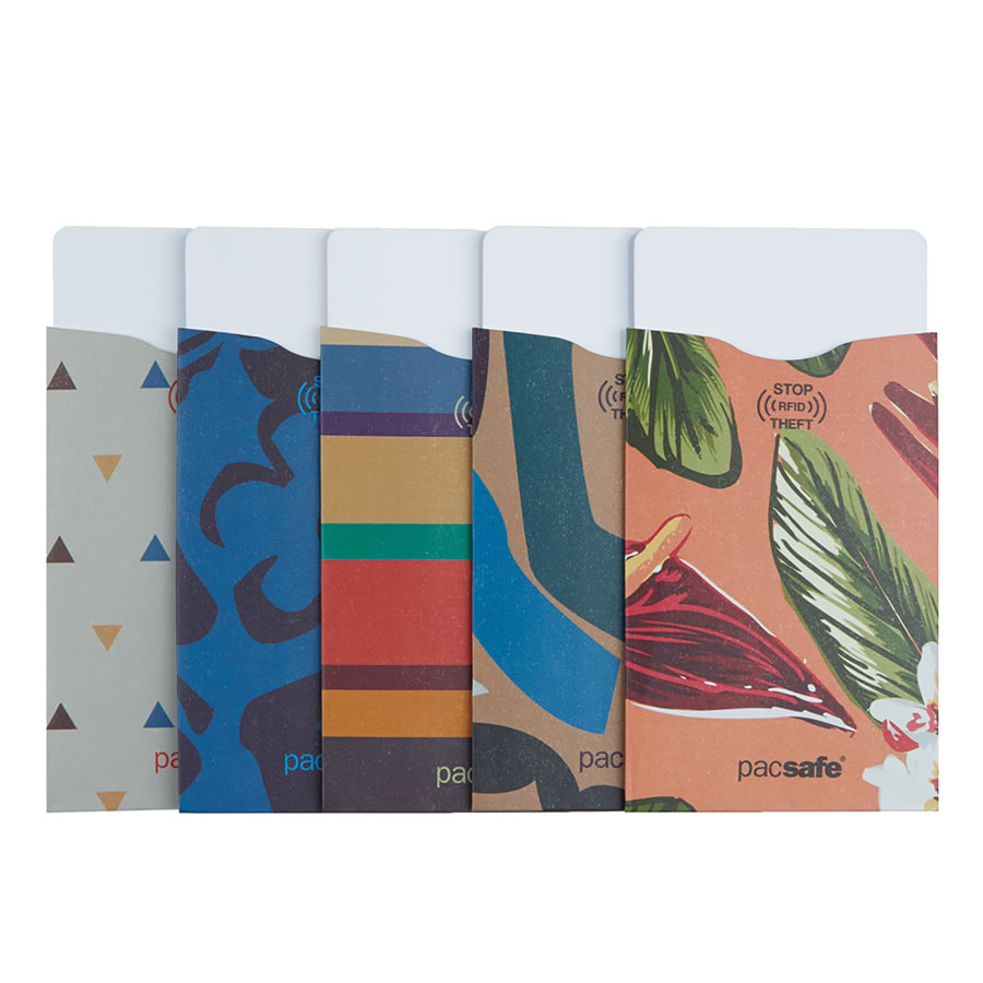 Pacsafe RFIDsleeve 25 (5 Pack) - Tropical