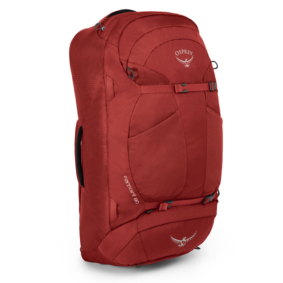 Osprey Farpoint 80 Travel Rucksack - Jasper Red