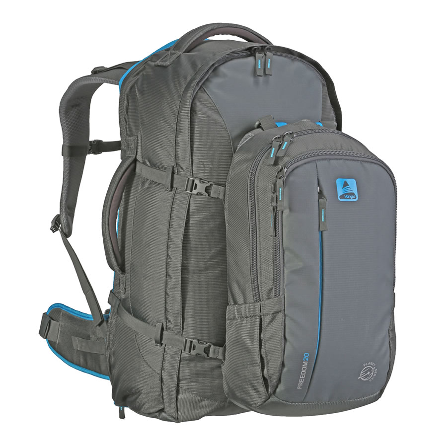 Vango Freedom II 60+20 Travel Pack - Grey/Blue