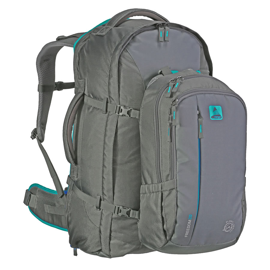 Vango Freedom II 60+20 Travel Pack - Grey/Teal