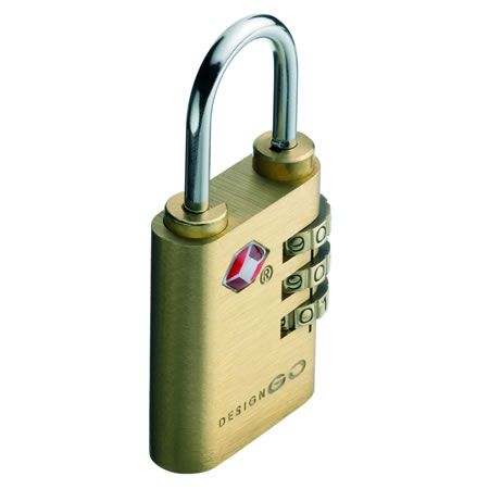 Go Travel Brass Sentry Lock