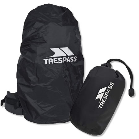 Trespass Medium Rucksack Rain Cover - Black