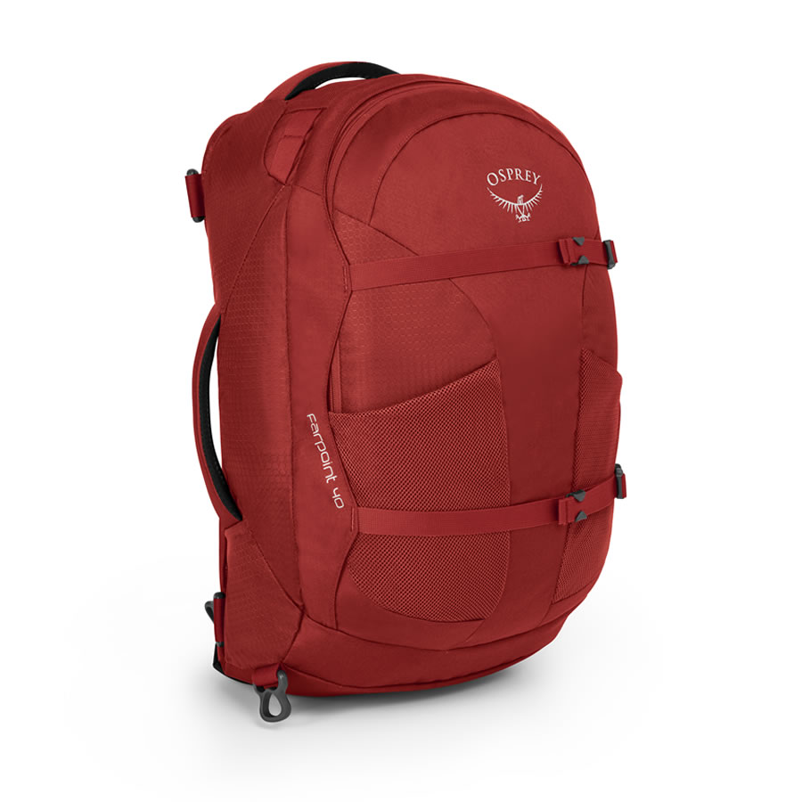 Osprey Farpoint 40 Travel Rucksack - Jasper Red