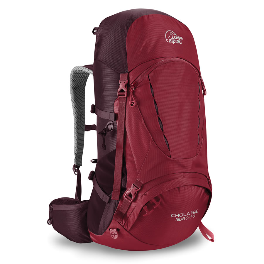 Lowe Alpine Cholatse ND60:70 Rucksack - Rio Red