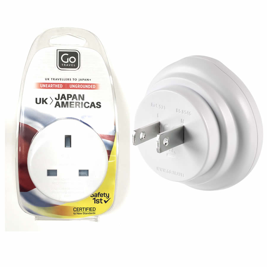 Go Travel UK to Japan Plug Adapter