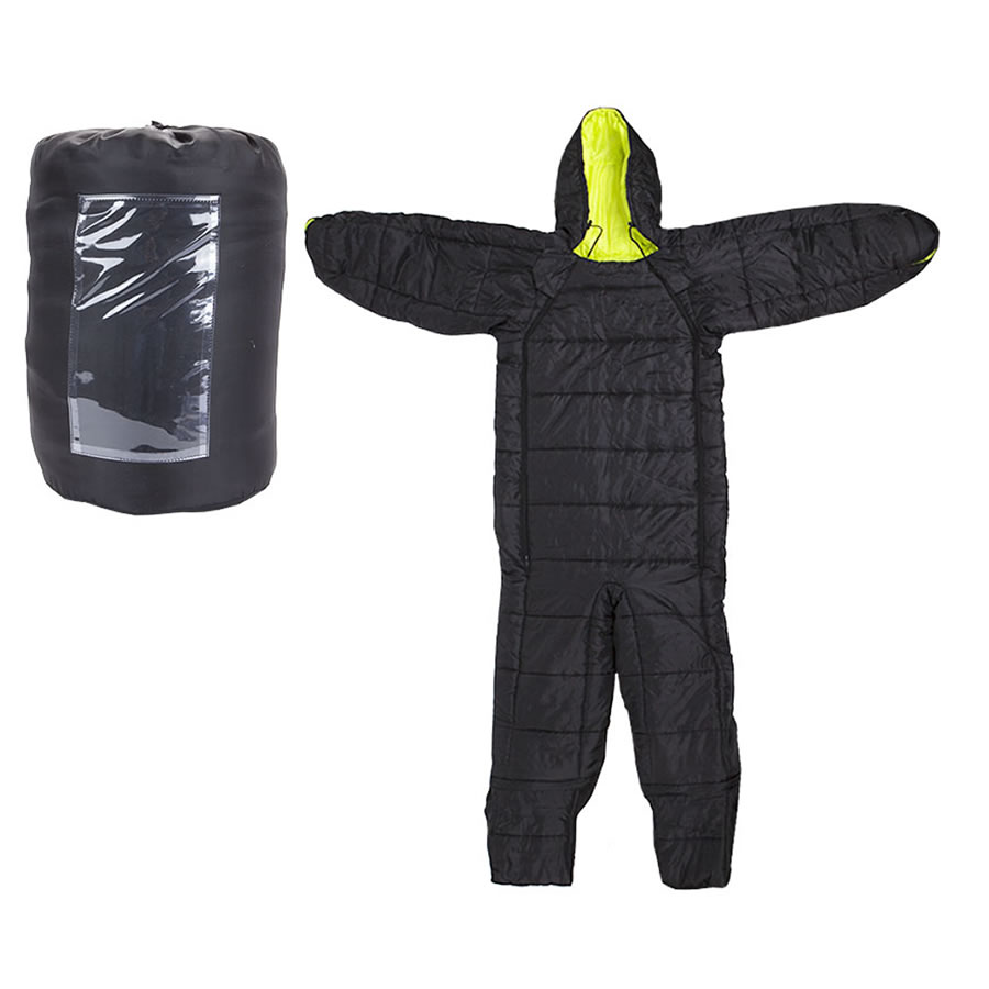 Summit Black Onesie Sleeping Bag - Medium