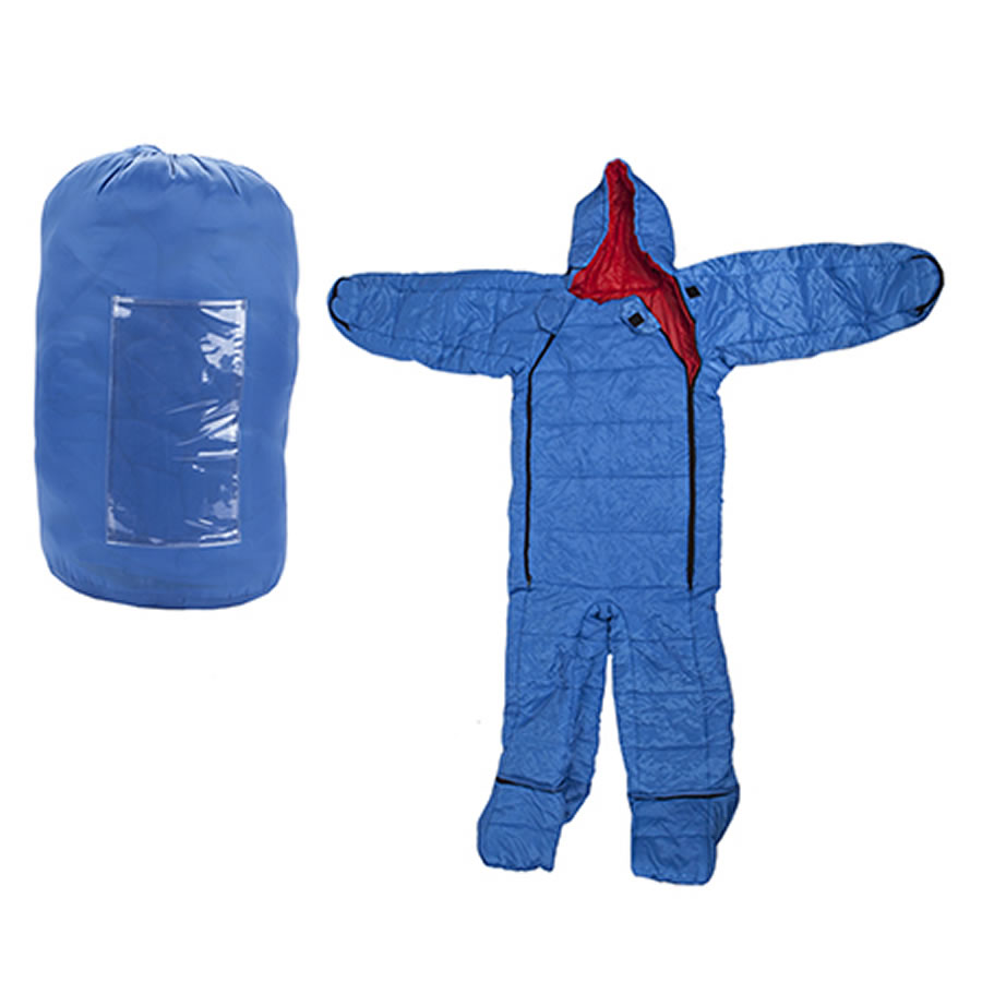 Summit Blue Onesie Sleeping Bag - Large