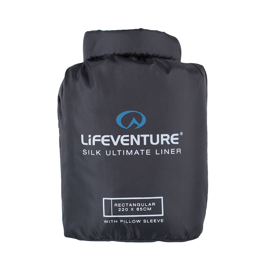 Lifeventure Ultimate Silk Sleeping Bag Liner - Rectangular