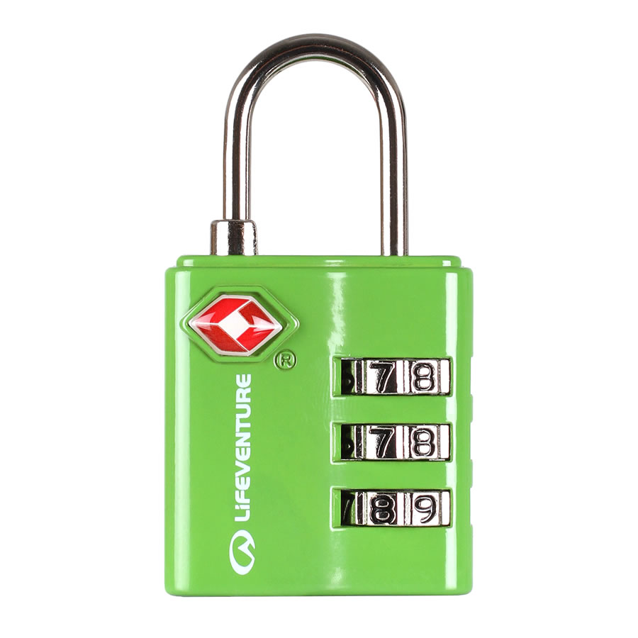 Lifeventure TSA Combi Lock - Green