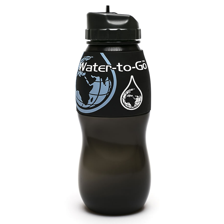 Water-to-Go 75cl Water Bottle - Black