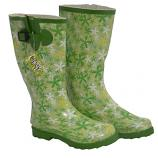 Osprey Green Ladies Floral Welly