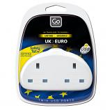 Go Travel UK-Europe Duo Adaptor + USB