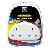 Go Travel UK-USA Duo Adaptor + USB