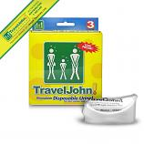 TravelJohn Disposable Urinal - Triple Pack