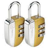 Go Travel No-Key Padlock Twin Pack